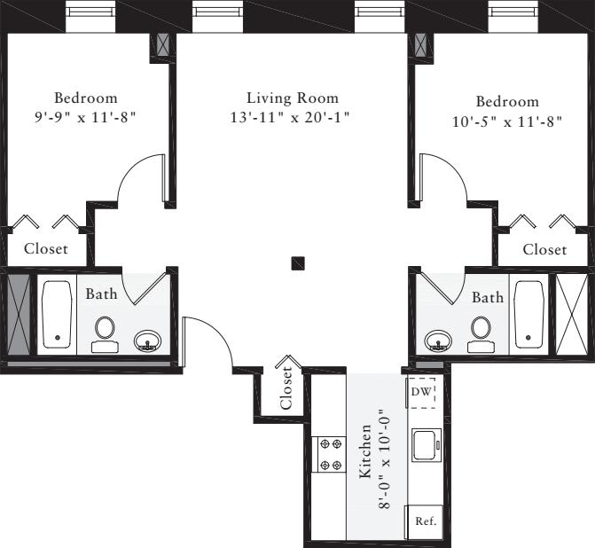 The Lofts 2 Bedrooms D