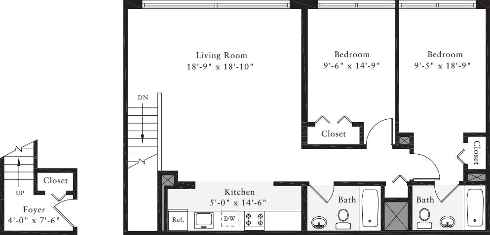2 Bedrooms J
