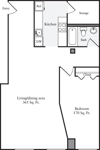 The Lofts 1 Bedroom I