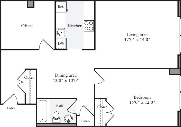The Lofts 1 Bedroom J