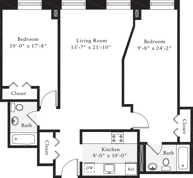 2 Bedrooms V