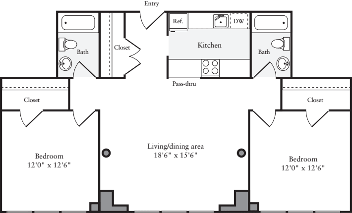 The Lofts 2 Bedrooms X
