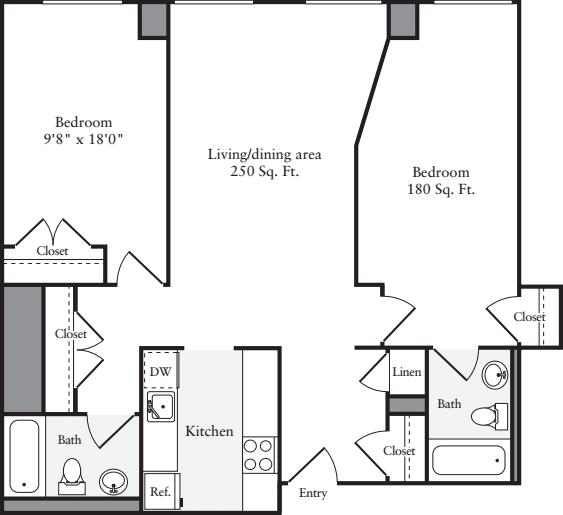 The Lofts 2 Bedrooms Y