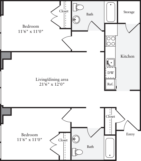 The Lofts 2 Bedrooms BB