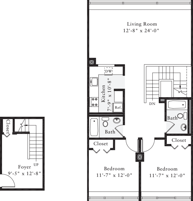 The Lofts 2 Bedrooms CC