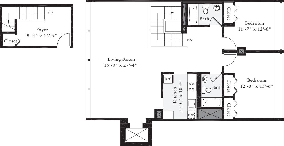 The Lofts 2 Bedrooms DD