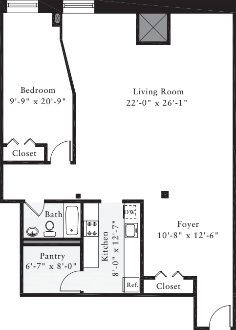 The Lofts 1 Bedroom L