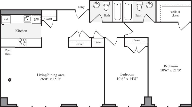 2 Bedrooms MM