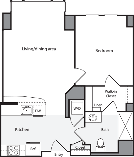1 Bedroom HS