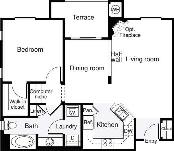 1 Bedroom D