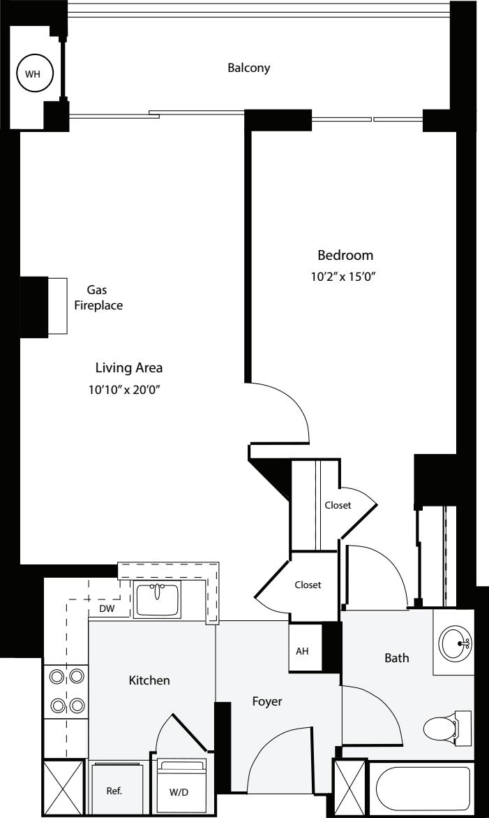 1 Bedroom F no Terrace