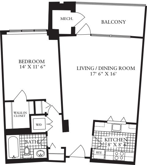 1 Bedroom E