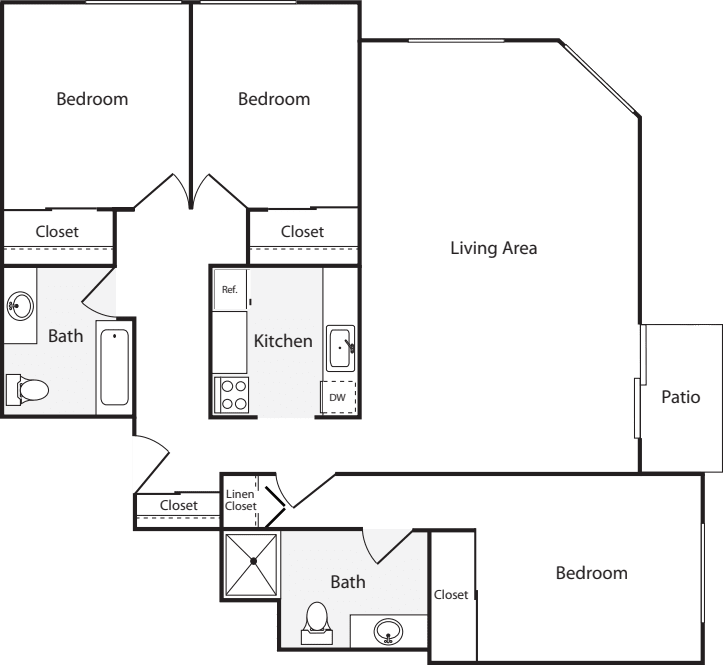 3+ Bedrooms C