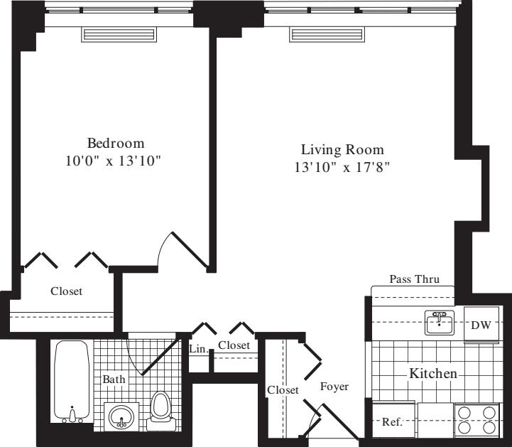 1 Bedroom K - 649