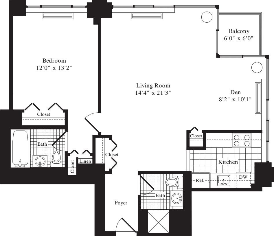 1 Bedroom C - 923