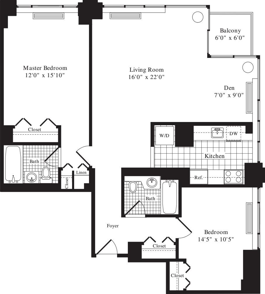 2 Bedroom E - 1168