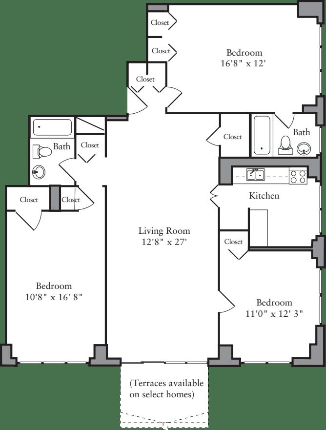 3 Bedroom B-28
