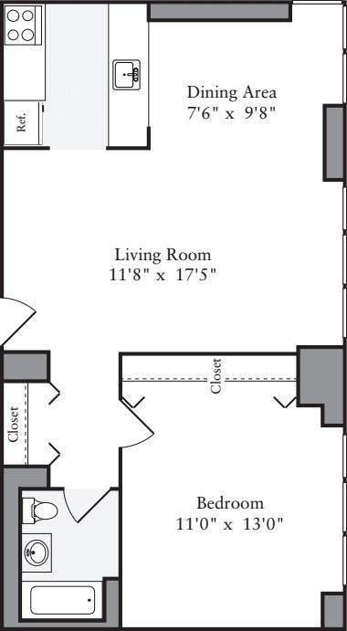 1 Bedroom M