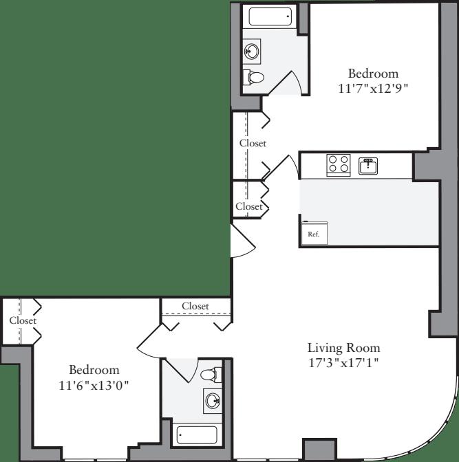 2 Bedrooms F
