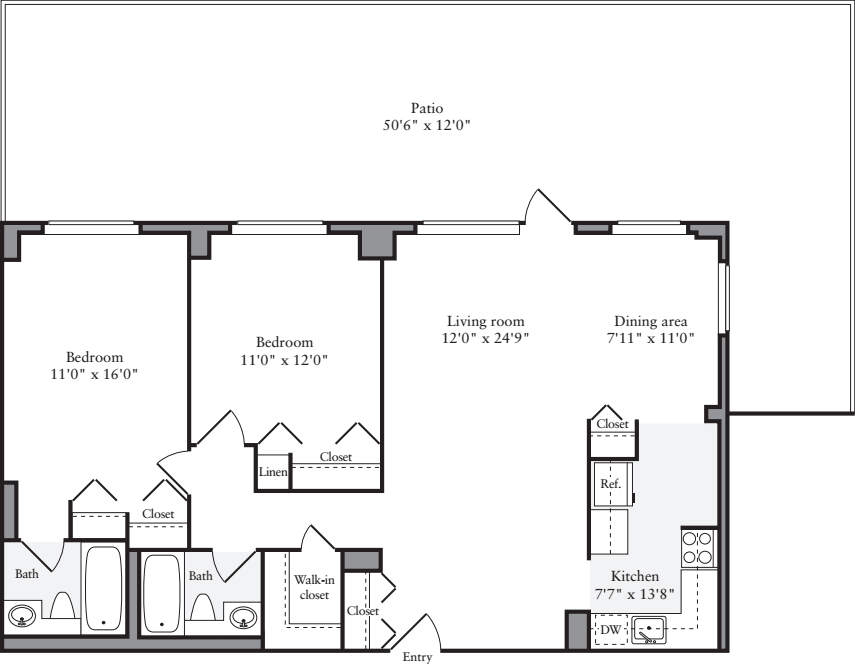2 Bedroom X with Terrace