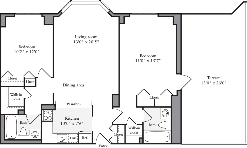 2 Bedrooms V with Terrace