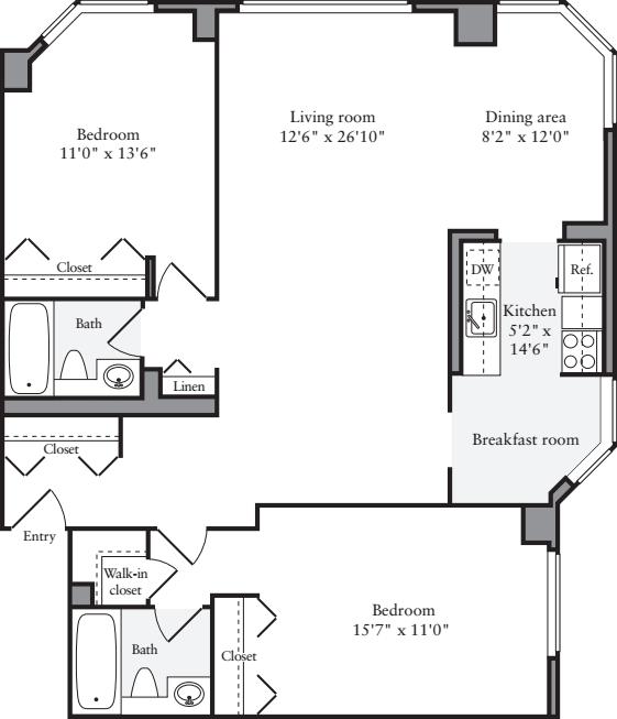 2 Bedrooms S