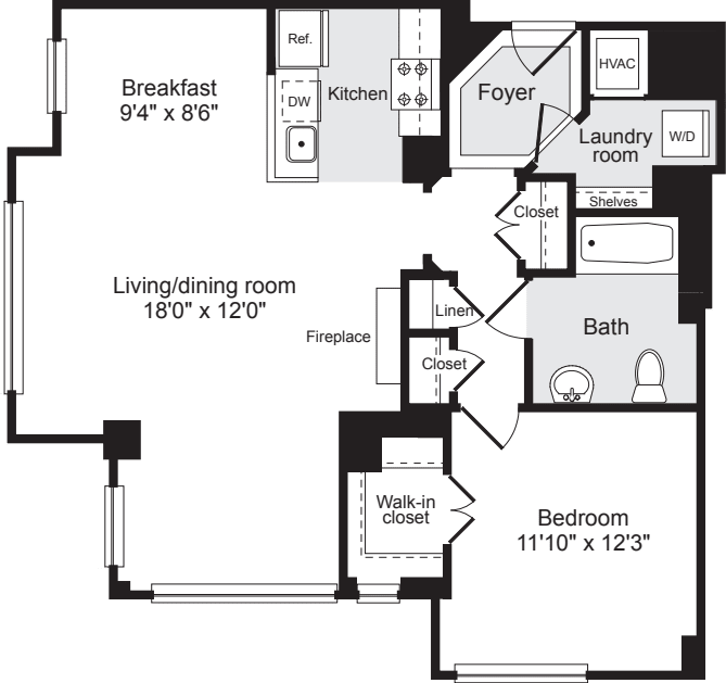1 Bedroom DD