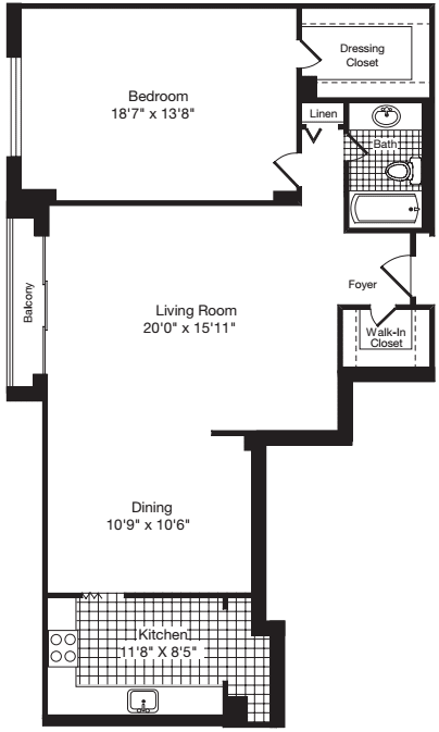1 Bedroom CC