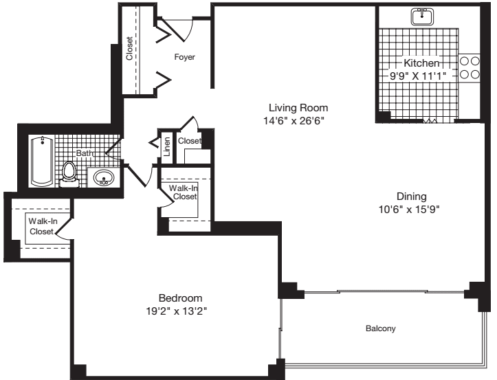 1 Bedroom II
