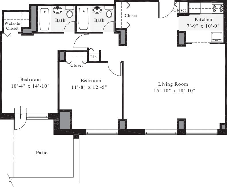 2 Bedrooms M1