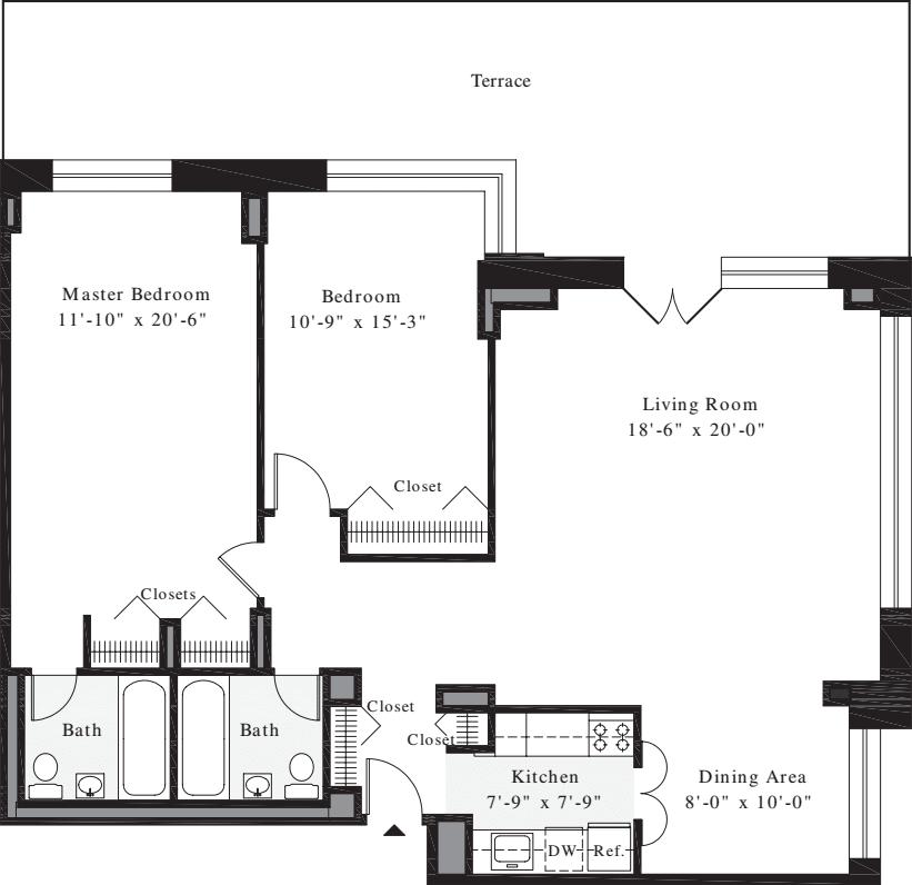 2 Bedrooms C1