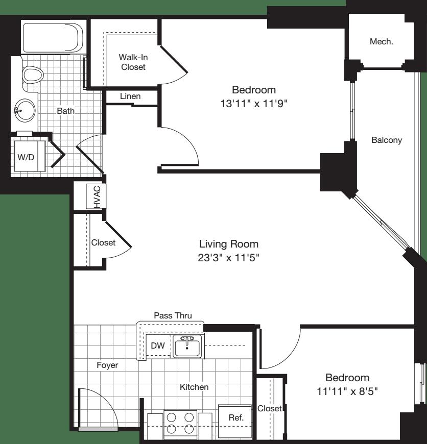 2 Bedroom CC