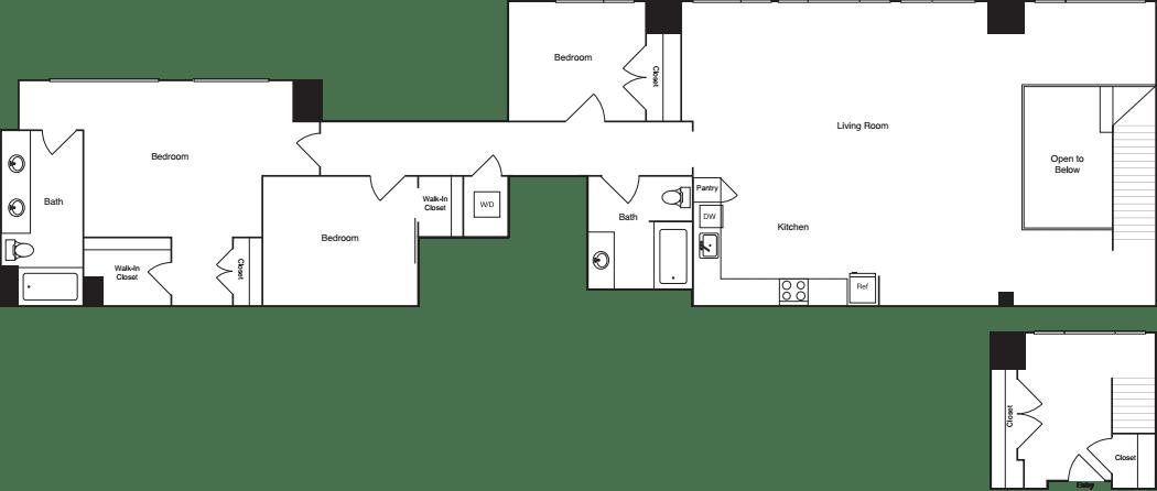 3 Bedrooms A