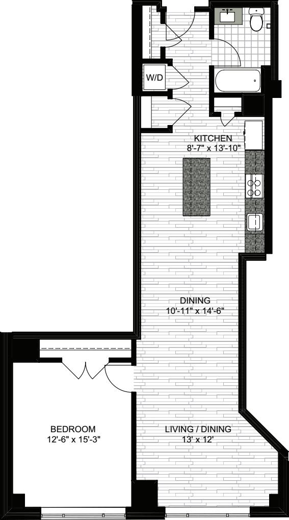 1 Bedroom X
