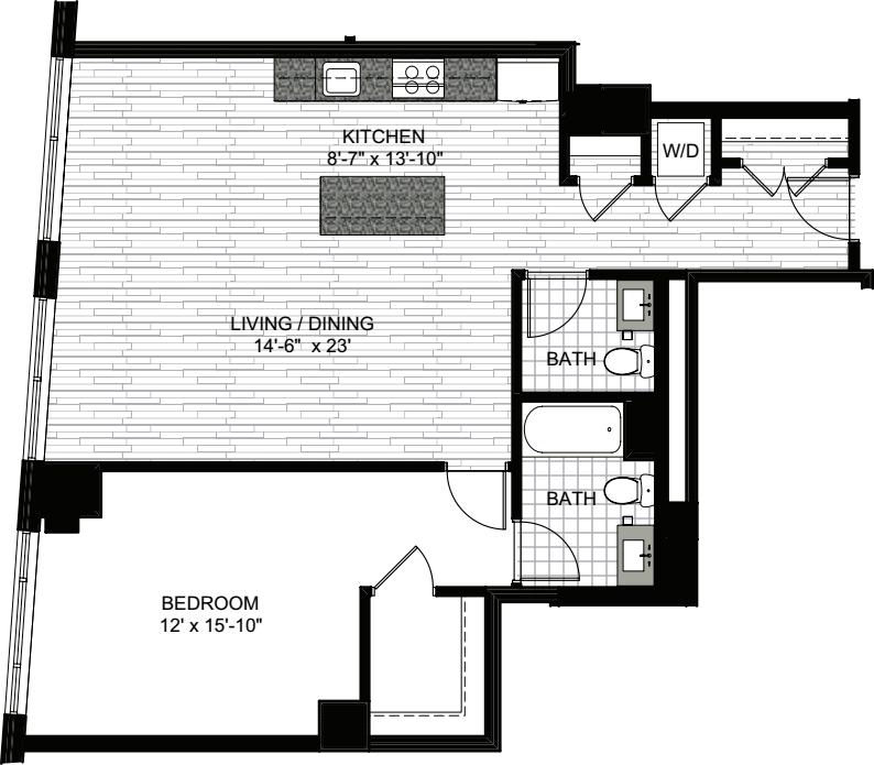 1 Bedroom DD