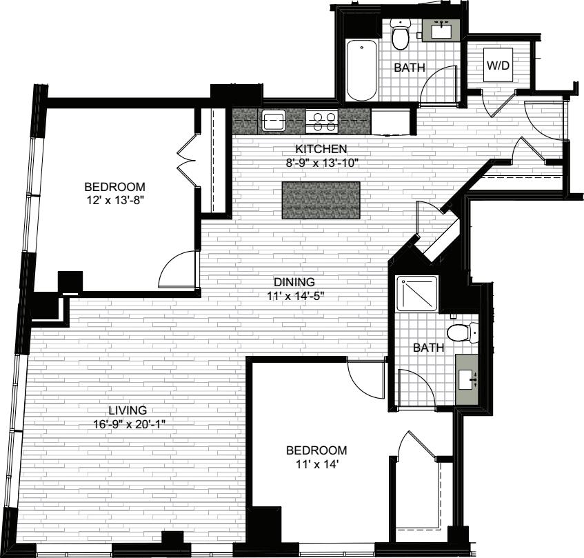 2 Bedrooms W