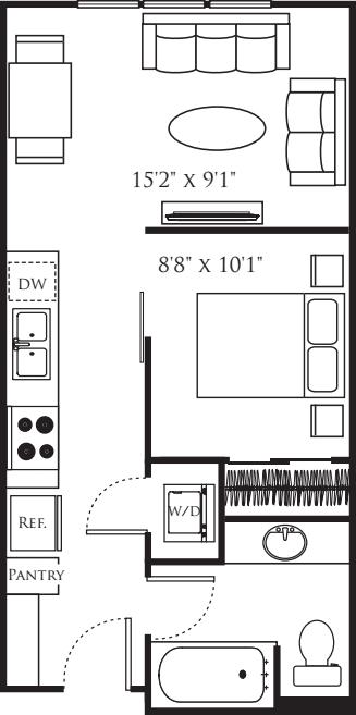 Open 1 Bedroom B