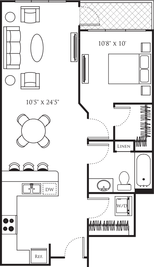 One Bedroom J