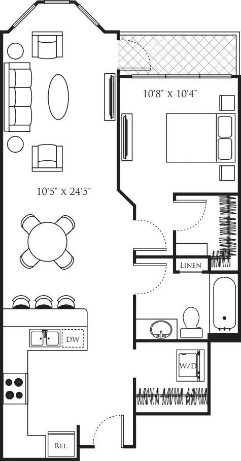 One Bedroom M