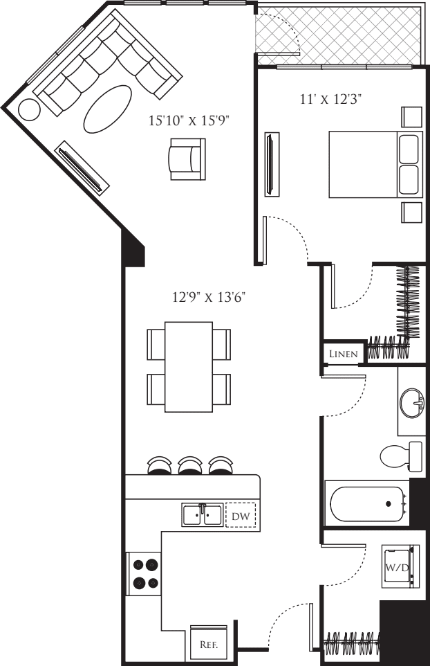 One Bedroom S