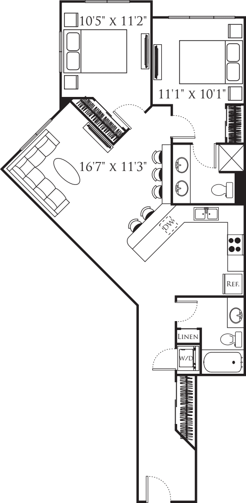 Two Bedroom K