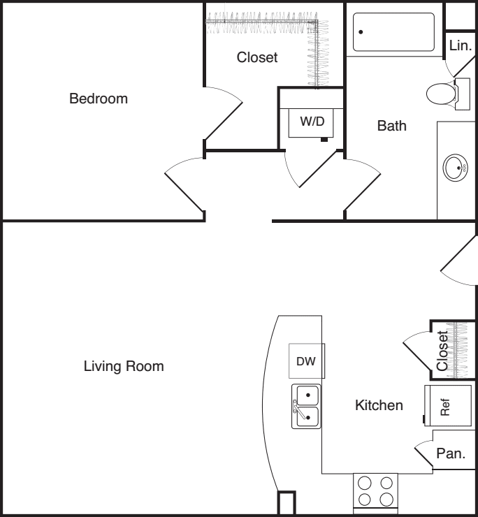 One Bedroom - E