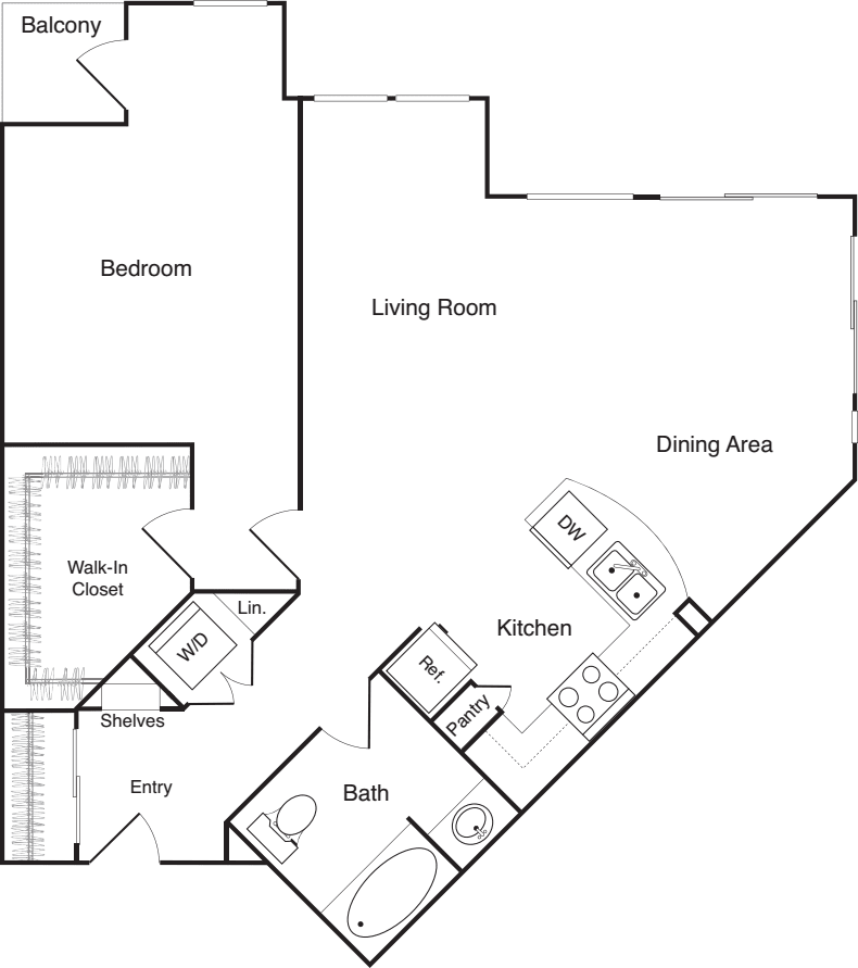One Bedroom - G