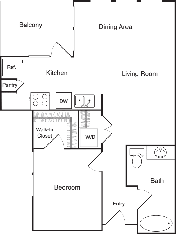One Bedroom - L