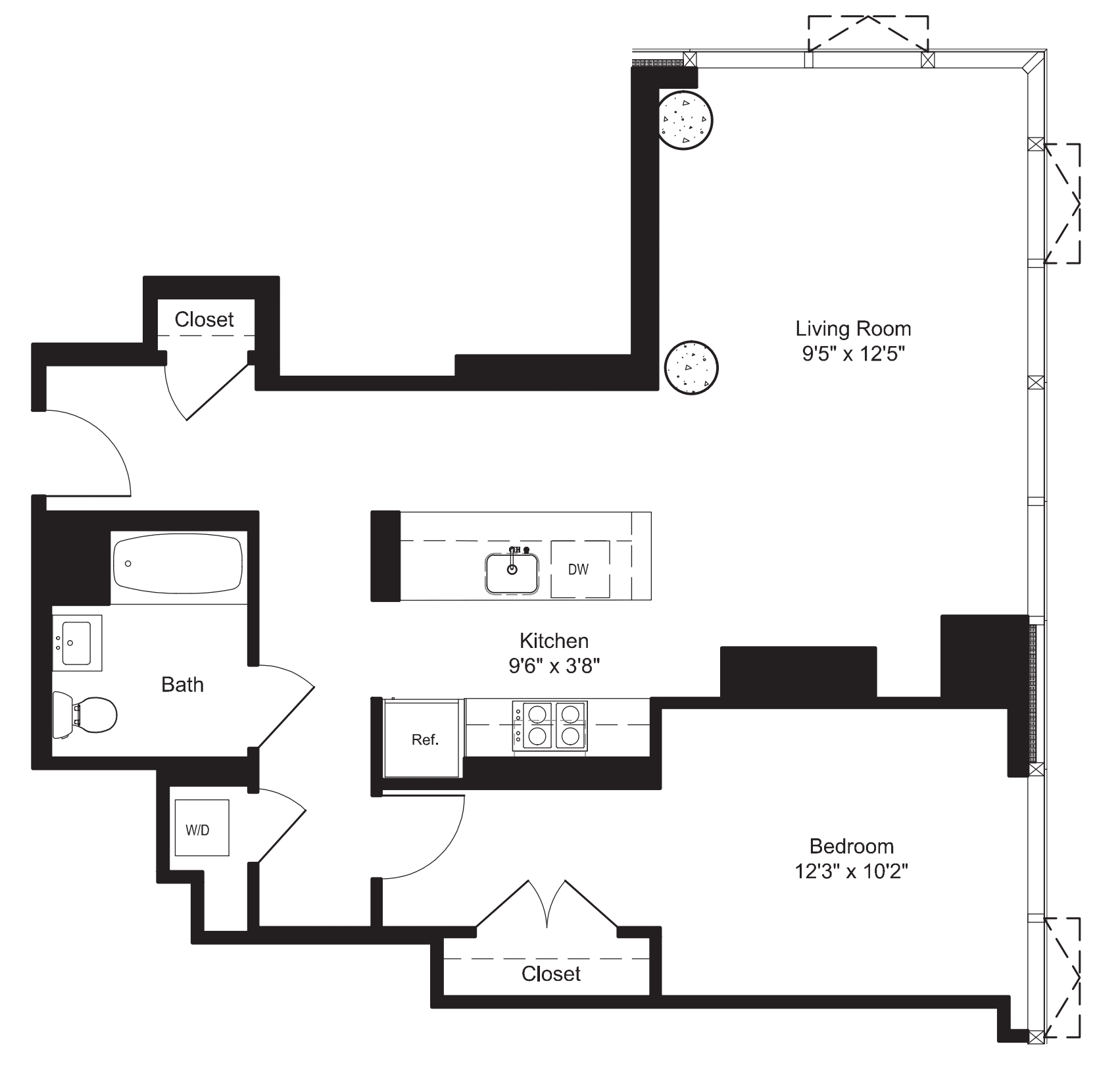 One Bedroom H 3-6