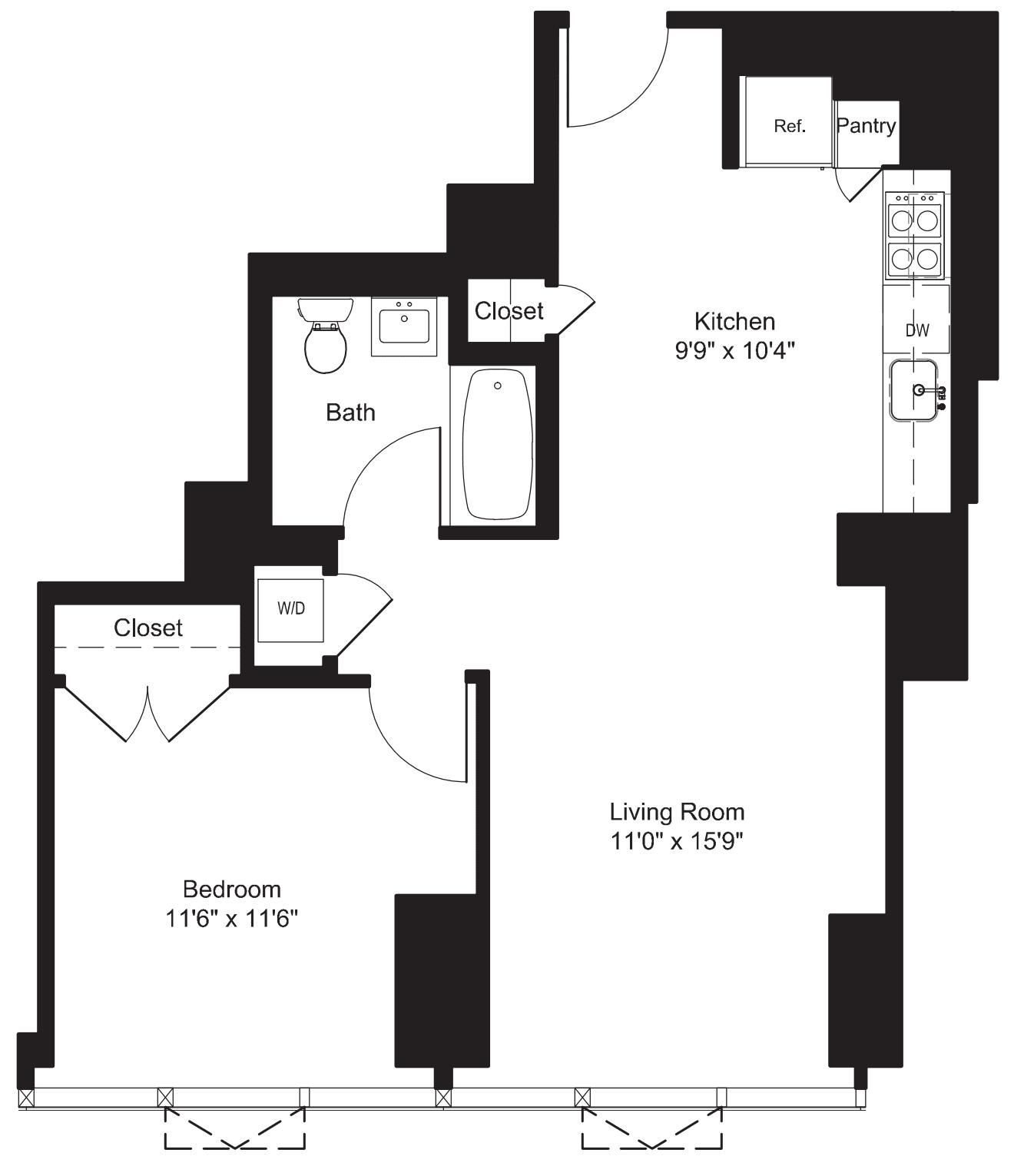 One Bedroom L 7-19