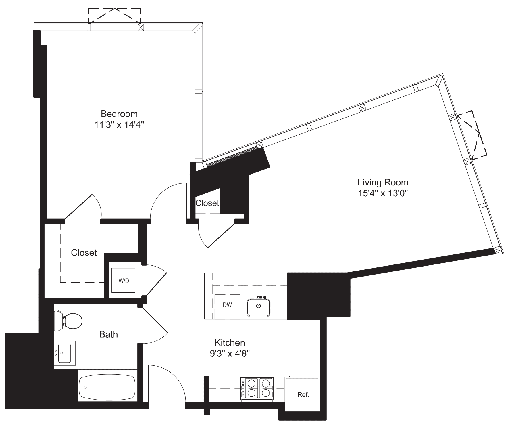 One Bedroom- H 7-10, 17-19