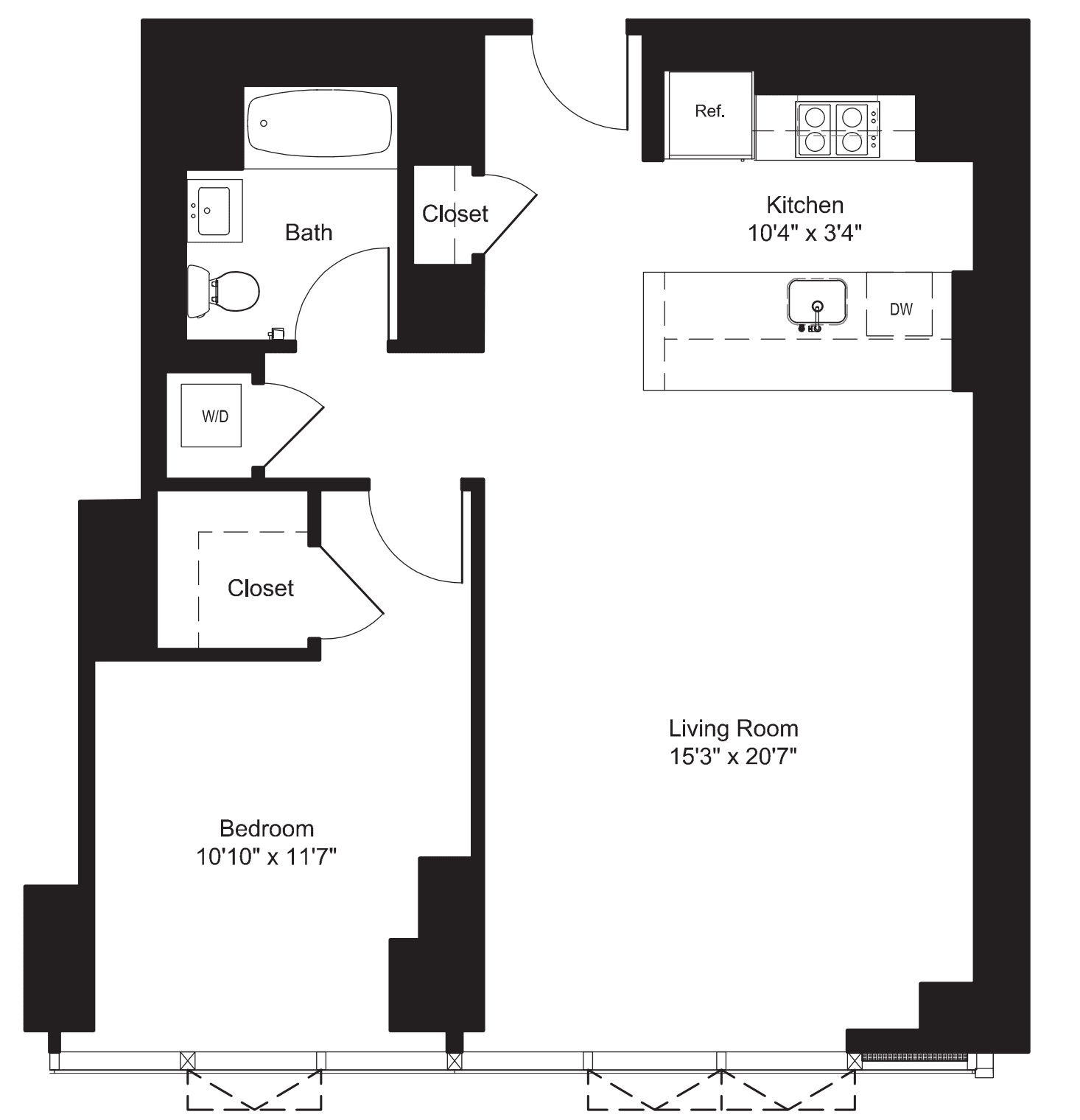 One Bedroom M 7-19