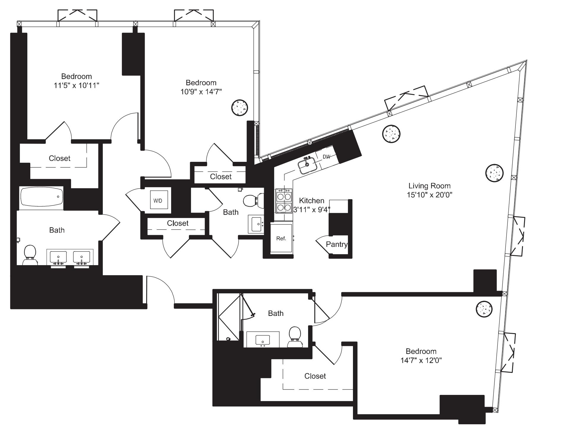 Three Bedroom F 21-22