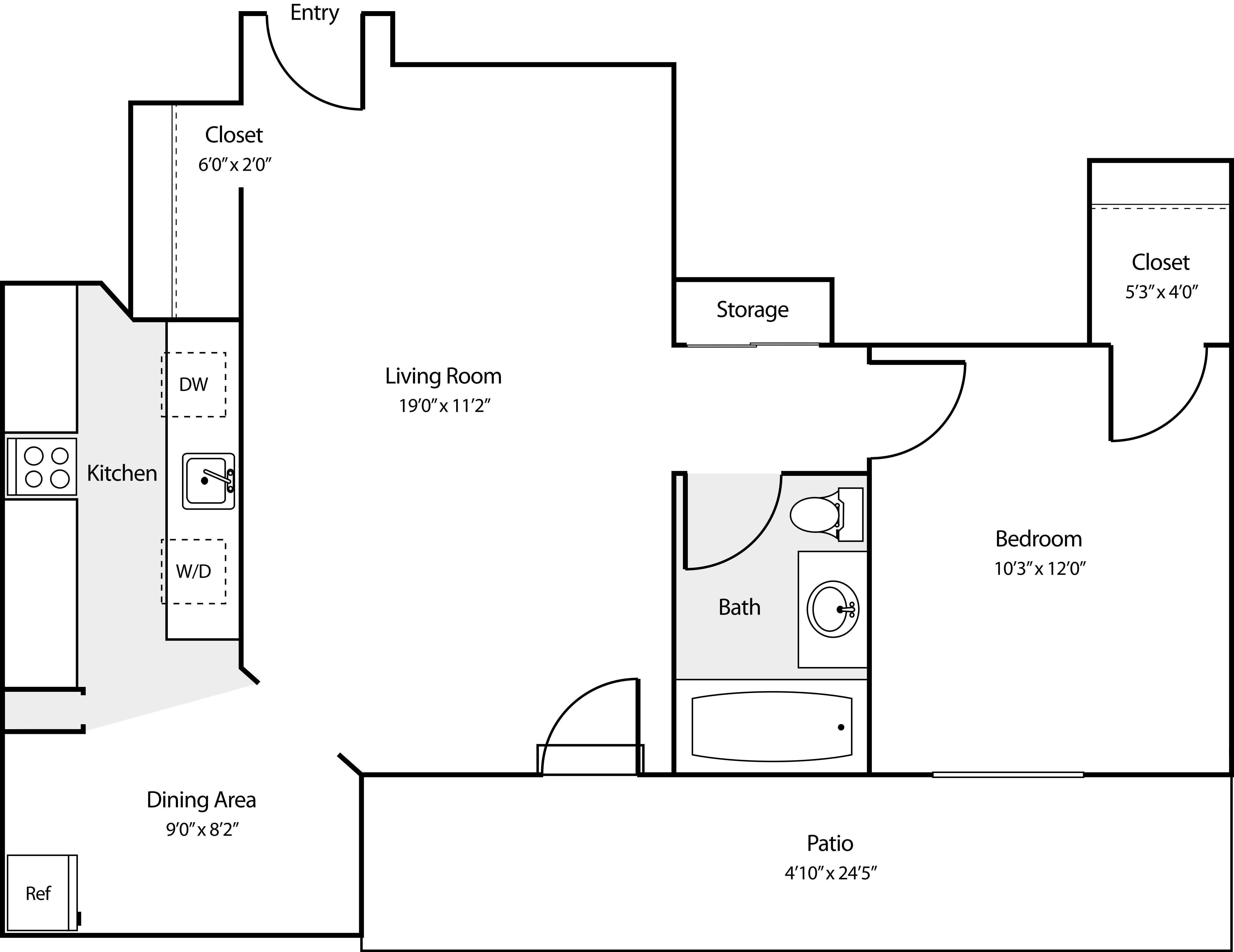 1 Bedroom CC